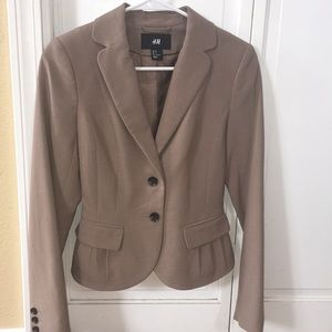 H & M Fitted Blazer Jacket size 2